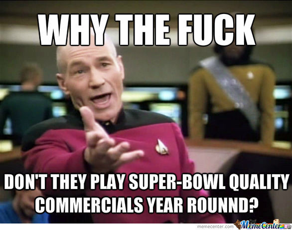Was Watching The Super-Bowl When I Realized...