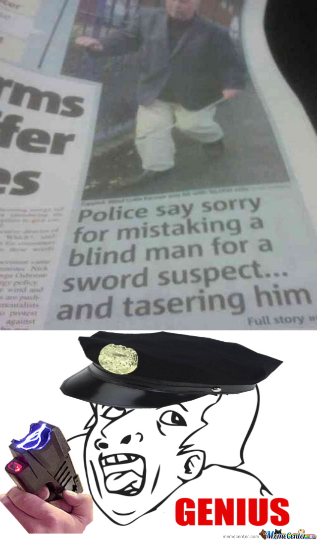 Watch Out, We Got A Tasering Genius Over Here