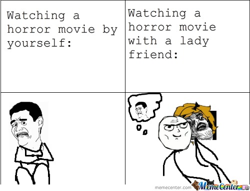 Watching A Horror Movie