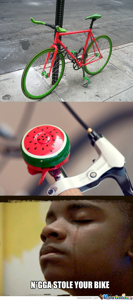 Water Melon Bike ~ Stole Mah Bike!