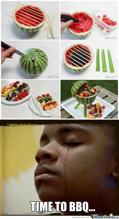 Watermelon Barbecue Pit