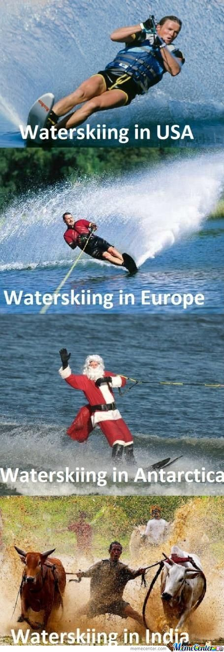 Waterskiing All Over The World