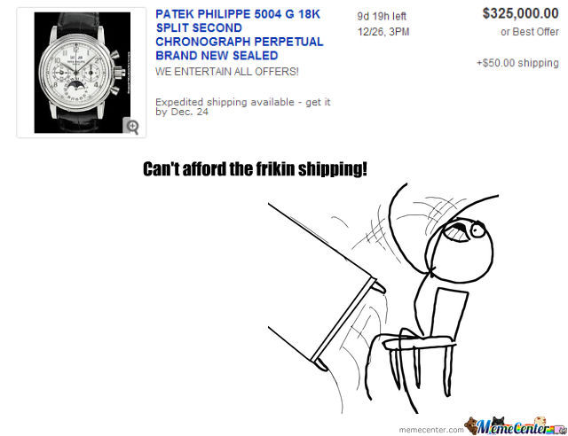 Way Too Much For Shipping