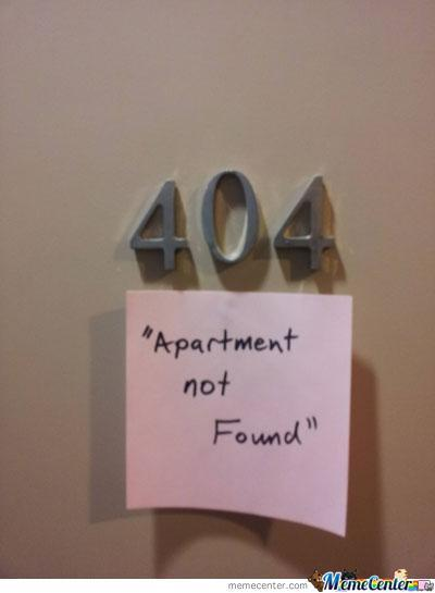 We're Sorry But The Requested Apartment Was Not Found