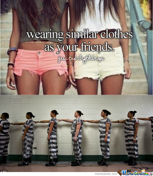 Wearing Similar Clothes As Your Friends.