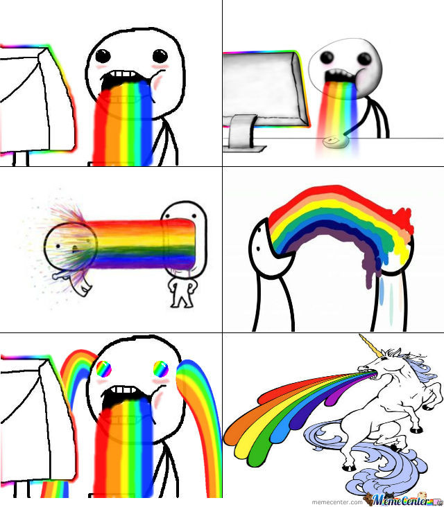 Webmaster Taking A Rainbow