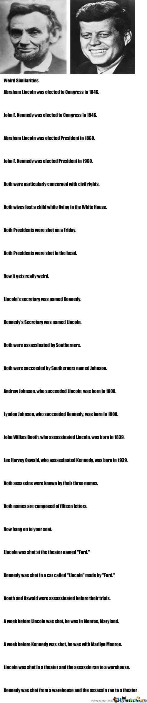 the interesting similarities between john f kennedy and abraham lincoln
