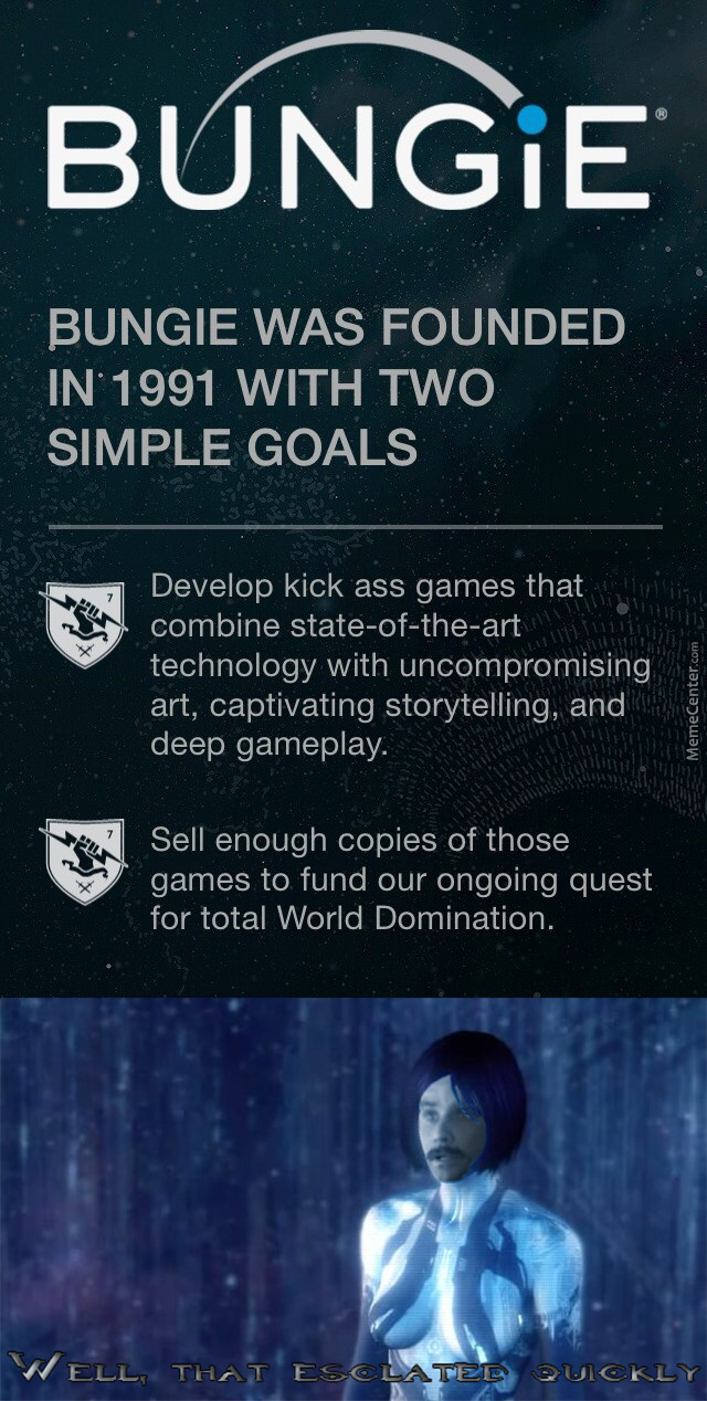 Well They're Succeeding In Their Goal (Destiny And Destiny 2)