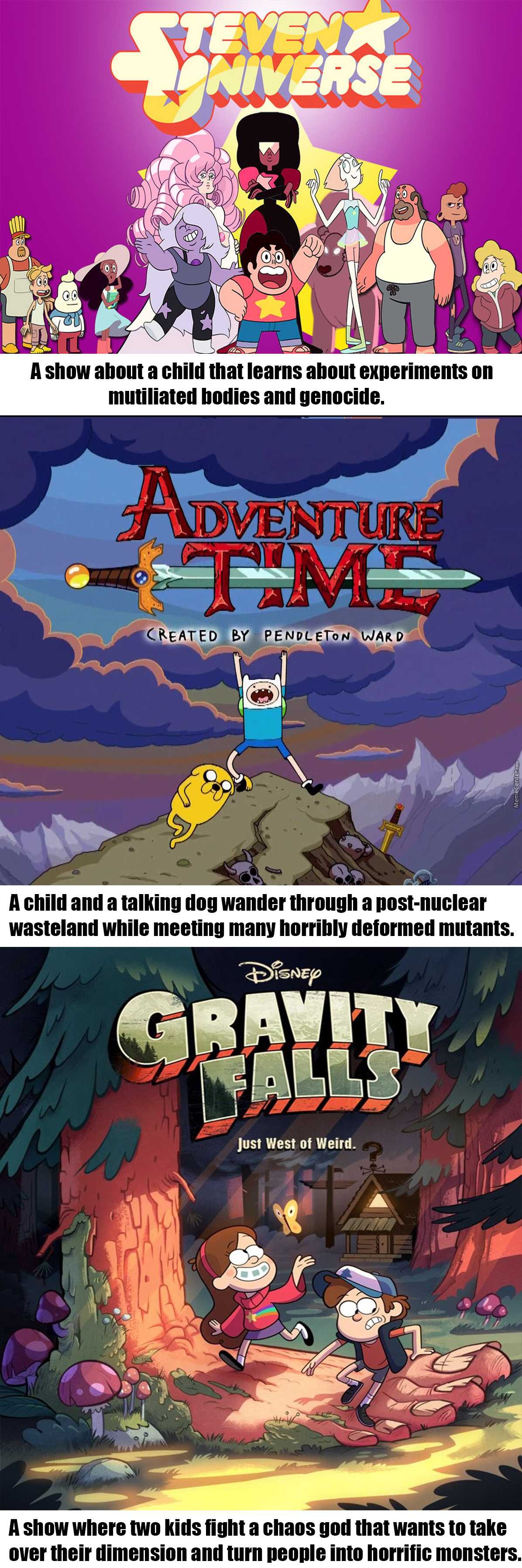 Well, When You Think About It These Shows Are Pretty Dark