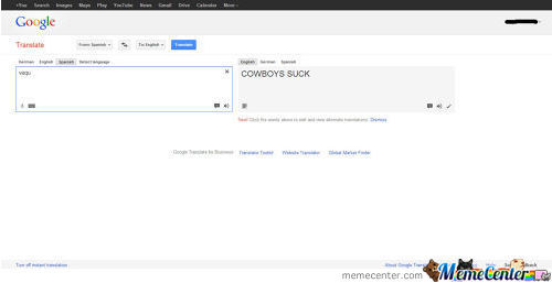 Went To Google Translate And Found This.