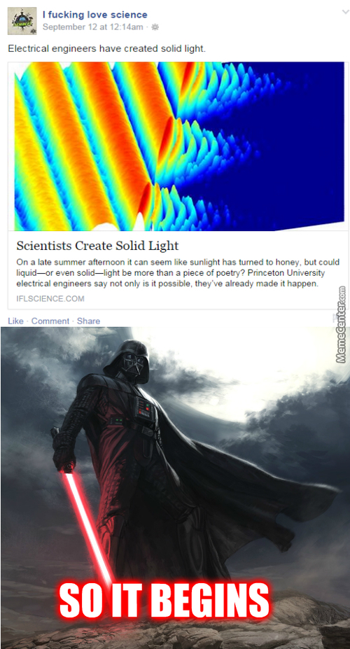What Did You Said, All I Hear Was The Future Lightsaber