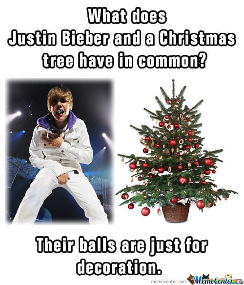What Does Justin Bieber And A Christmas  Tree Have In Common?