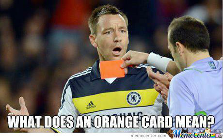 What Does The Orange Card Mean??