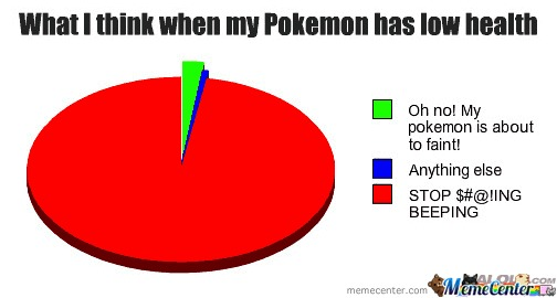What I Think When My Pokémon Has Low Health