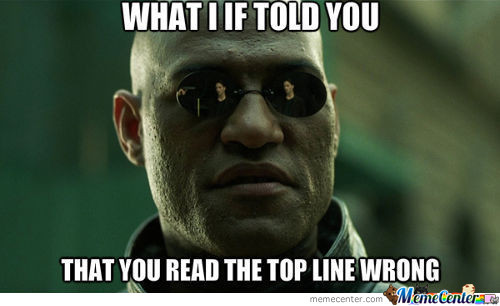 What If I Told You