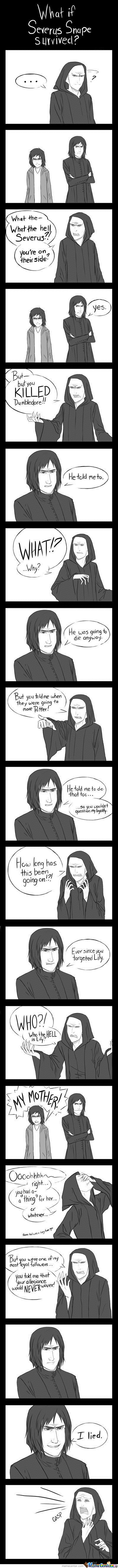 What If Snape Survived ?