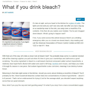 What If You Drink Bleach? World Of Pain And Hurt! by laffi