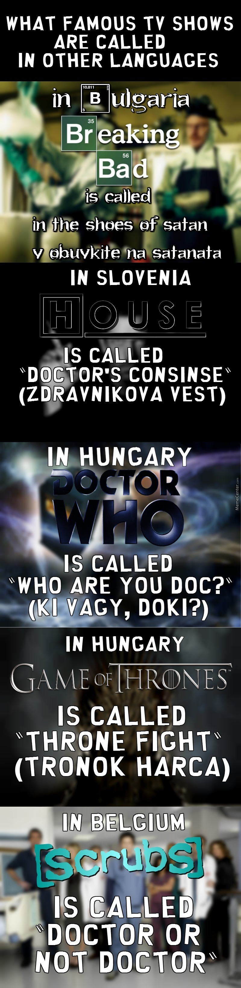 What Popular Tv Shows Are Called In Other Languages