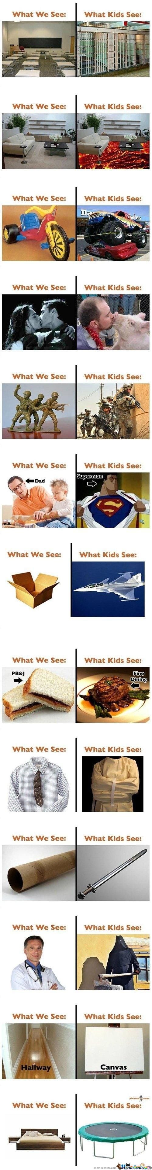What We See And What Kids See