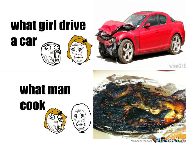 What Woman Drive And What Man Cook