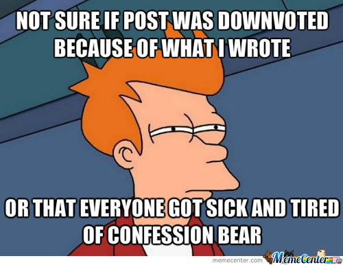 When A Confession Bear Meme Gets Downvoted