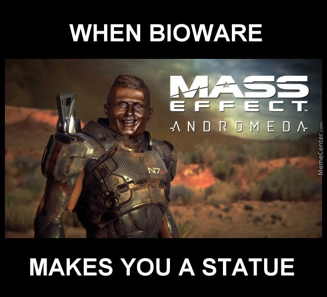 When Bioware Makes You A Statue