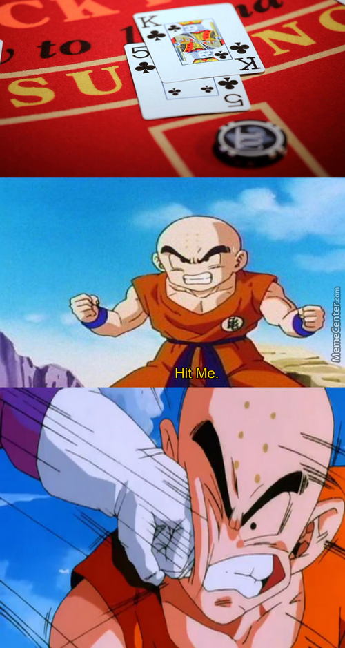 When Blackjack And Krillin Mix. Krillin Gets Owned As Usual.