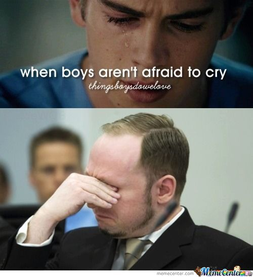 When Boys Aren't Afraid To Cry