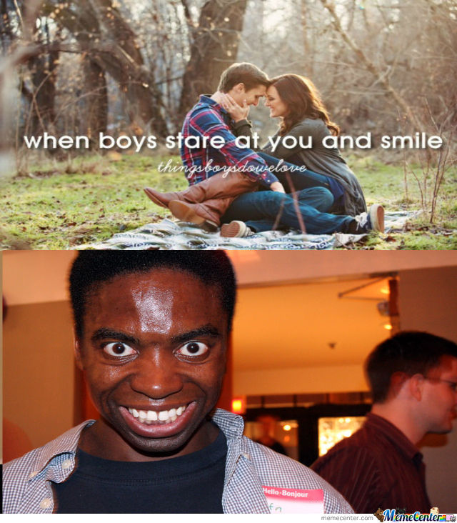 When Boys Stare At You And Smile