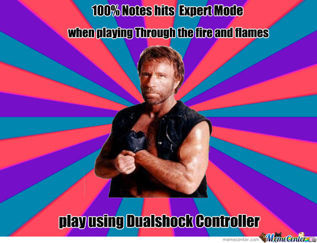 When Chuck Norris Playing Guitar Hero