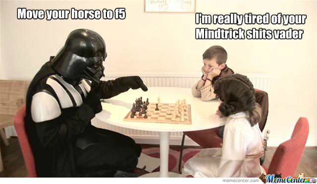 When Darth Vader Plays Chess