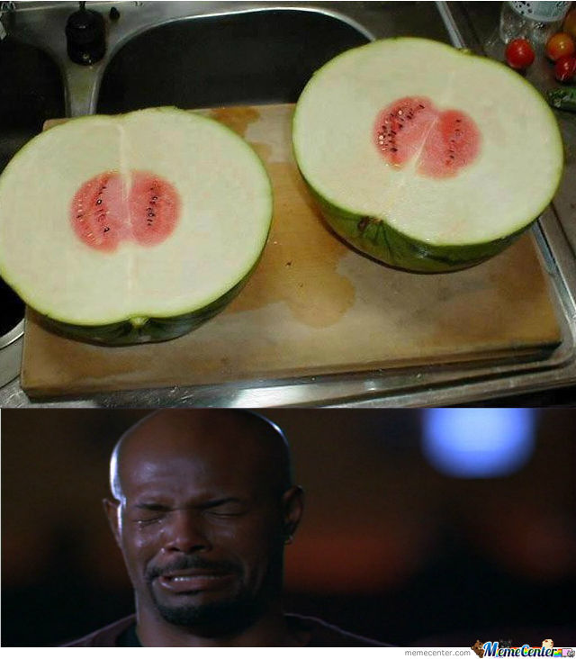 When He Finds Out That There Nearly Is No Watermelon Inside The Watermelon