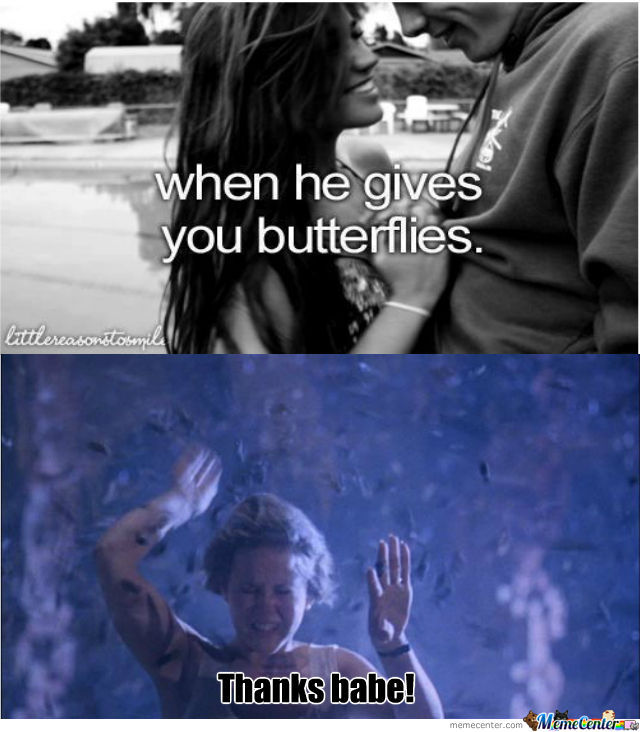 she gives me butterflies