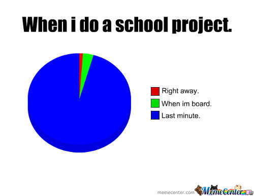 When I Do A School Project