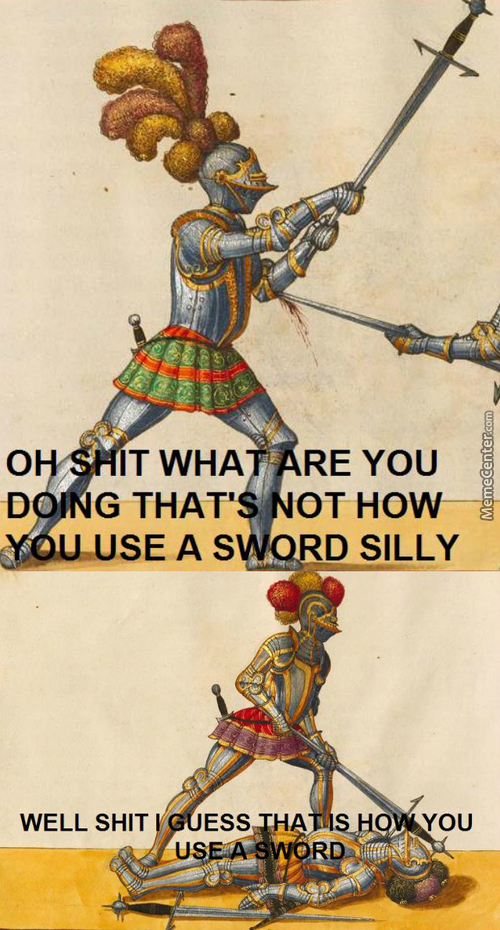 When I First Met A Guy Who Was Half-Swording