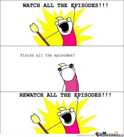 When I Love An Anime Or A Tv Show