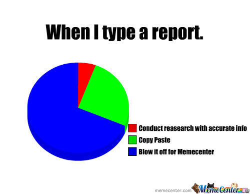 When I Type A Report