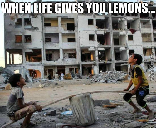 When Life Gives You Lemons, Freeze Them And Throw Them At The People Making Your Life Difficult
