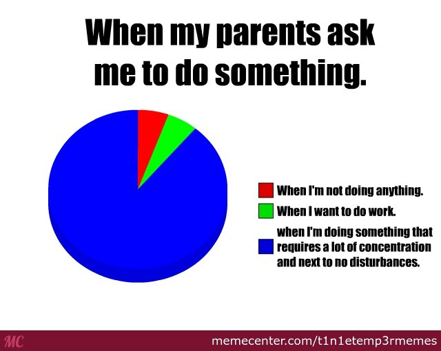 When My Parents Ask Me To Do Something. by ...