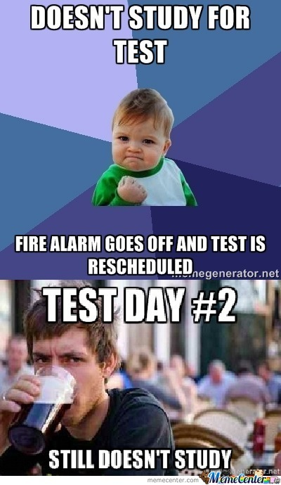 When Test Day Comes....