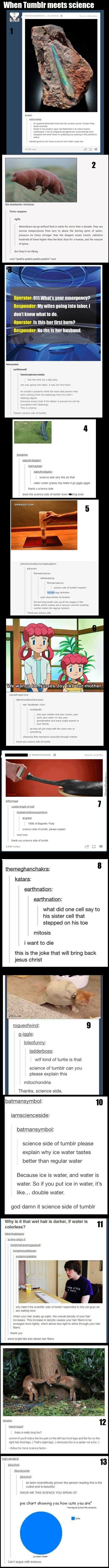 When Tumblr Meets Science