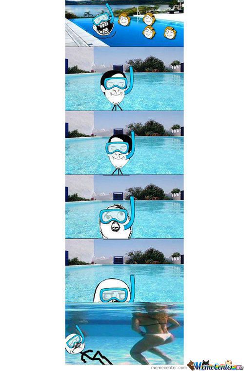When U Are With Girls On Swimming Pool