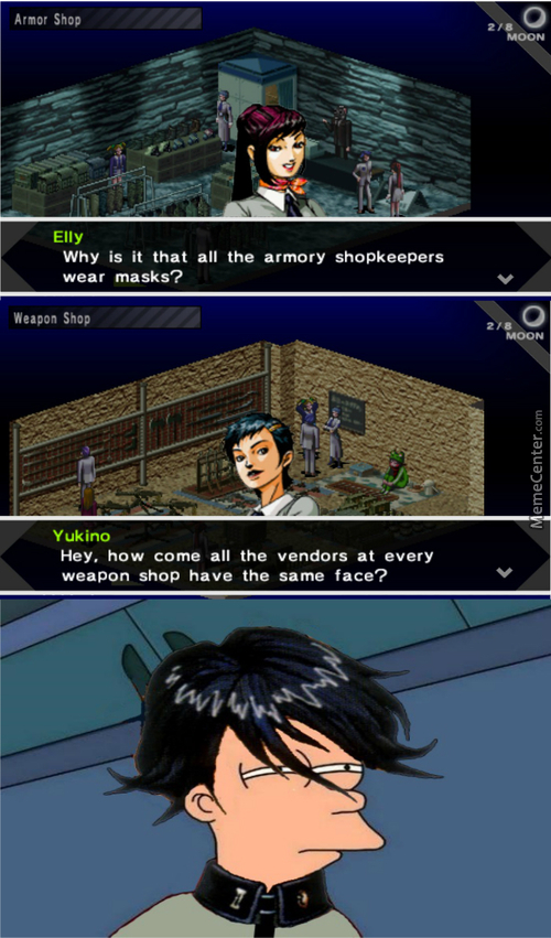 When Videogame Characters Become Self Aware (Smt: Persona For Psp)