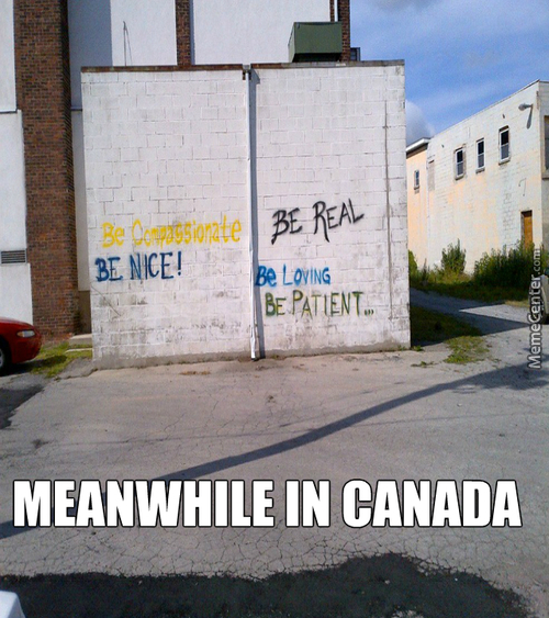 When Will You Canadians Stop This Evil Graffiti?!