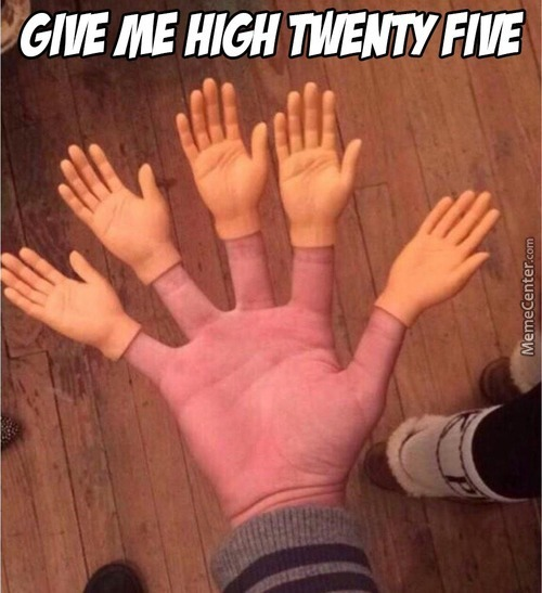 When You Do Something Really Cool That A High Five Isn't Enough