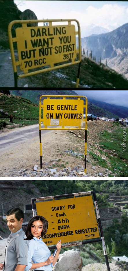 When You Go On A Bumpy Road..