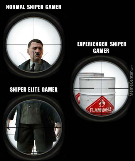 When You Testacle Shot Hitler In Sniperelite3....its The Best Sniper Feel In The World...