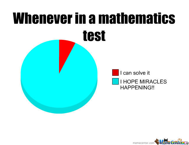 Whenever In A Mathematic Test