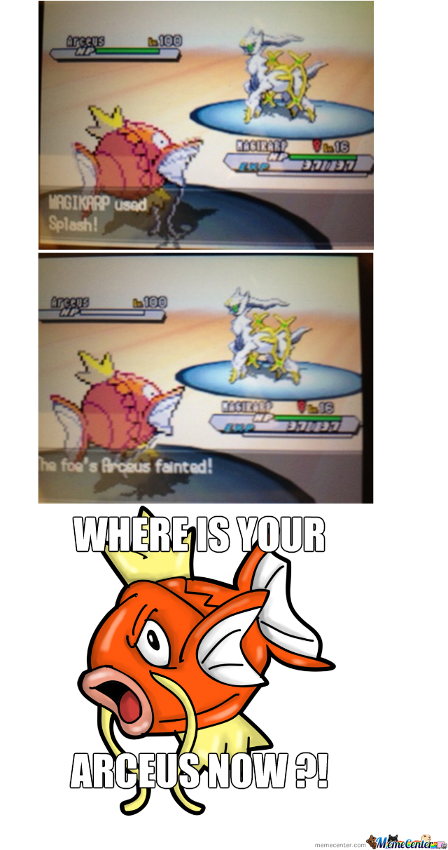 Where Is Your Arceus Now ?
