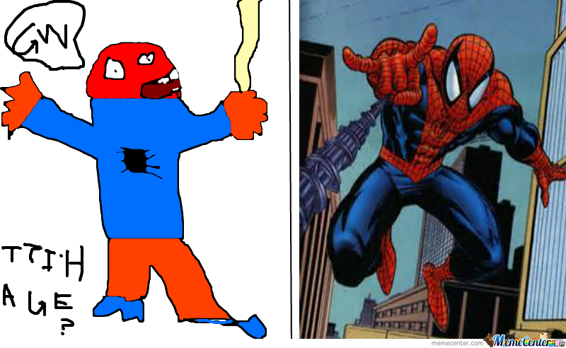 Which One Is An Actual Photo Of Spiderman?